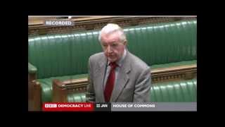 """Dennis Skinner-  22/01/2015, questions Theresa May...""""Has She Considered?"""""""