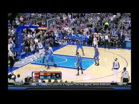 Russell Westbrook 2 monsters dunks vs Dallas Mavericks dunk of the night 01/02/12 HD