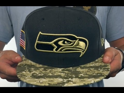 Seahawks 2014 Salute To Service Navy Desert Fitted Hat By New Era ... ede6229eb835
