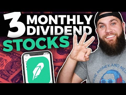 3 Monthly Robinhood Dividend Stocks For Passive Income