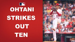 Shohei Ohtani finishes his last start at home with 10 Ks and 0 BB!