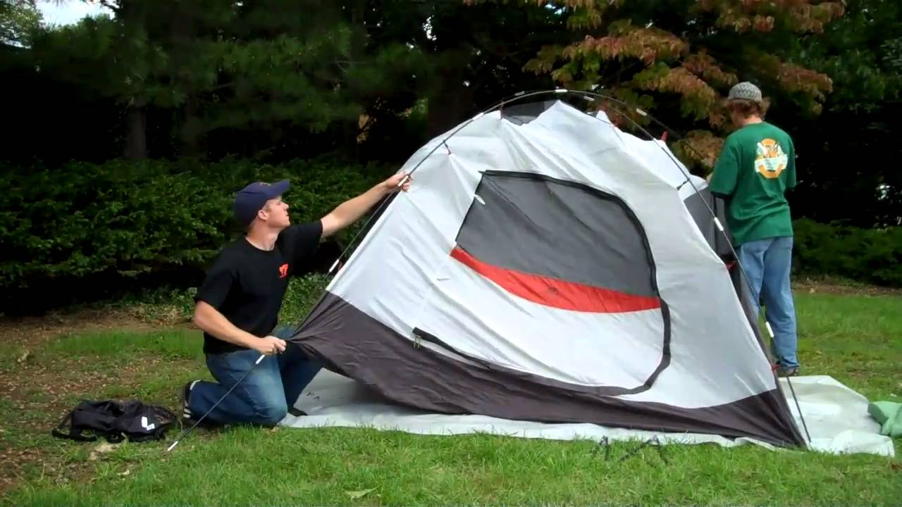 how to set up a 4 man tent youtube