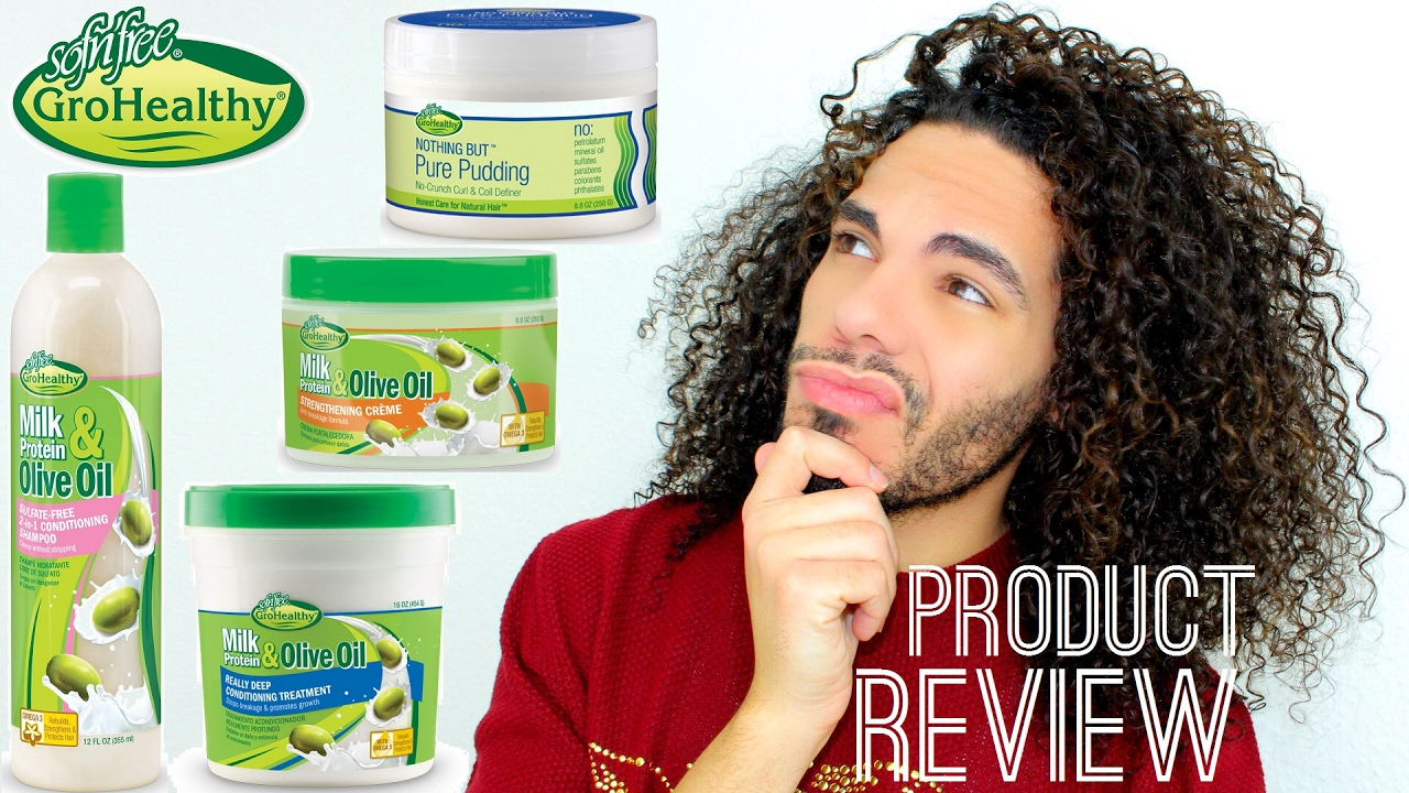 Sofn Free Gro Healthy Curly Hair Product Review Shampoo Deep Conditioner Curl Definer Youtube