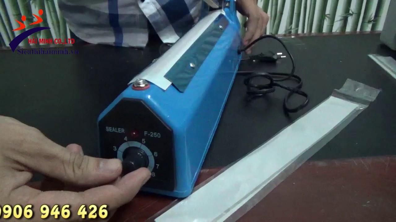 Test máy hàn miệng túi dập tay PFS 250 & PFS 400
