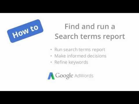 How to find and run a Search Terms report