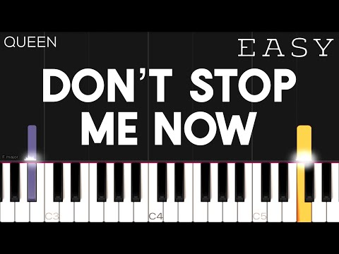 Queen - Don't Stop Me Now | EASY Piano Tutorial