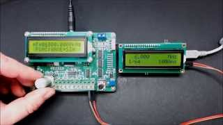 Open Source Frequency Counter DIY Kit with PIC16F628A and MB506 prescaler 10Hz - 250MHz