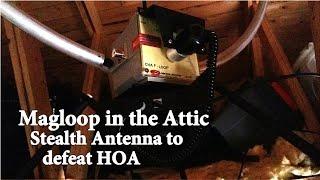 Chameleon F-LOOP & RT-RR Magnetic Loop Antenna for HOA Restricted Ham Radio Operators.