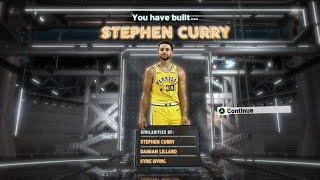 NBA2K20 STEPH CURRY BUILD - 10 HOF BADGES - DEMIGOD POINT GUARD BUILD