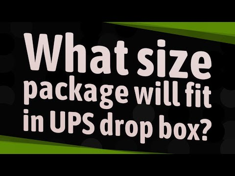 What Size Package Will Fit In UPS Drop Box?