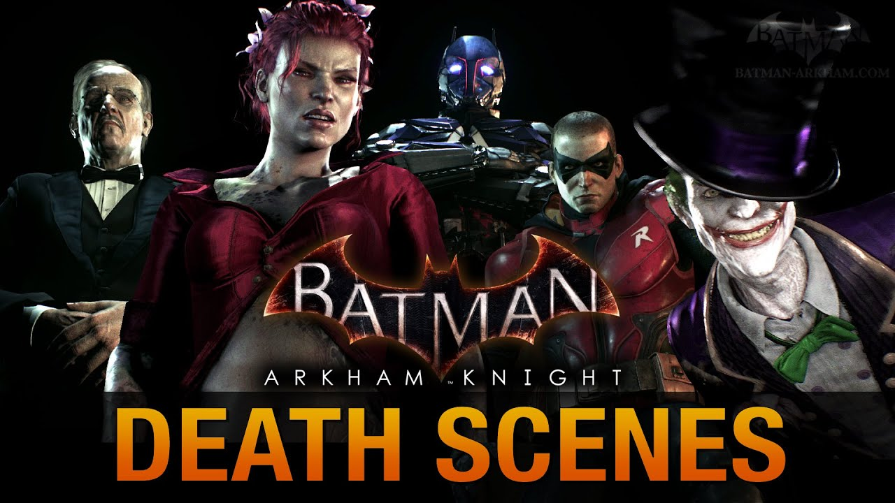 Batman: Arkham Knight - All Game Over Death Scenes ...