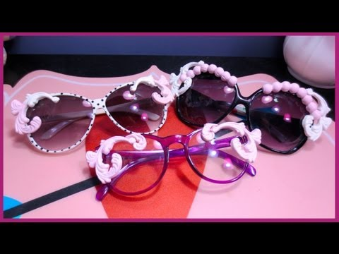DIY Quirky Embellished Sunglasses {Moo Piyasombatkul Inspired} ♡