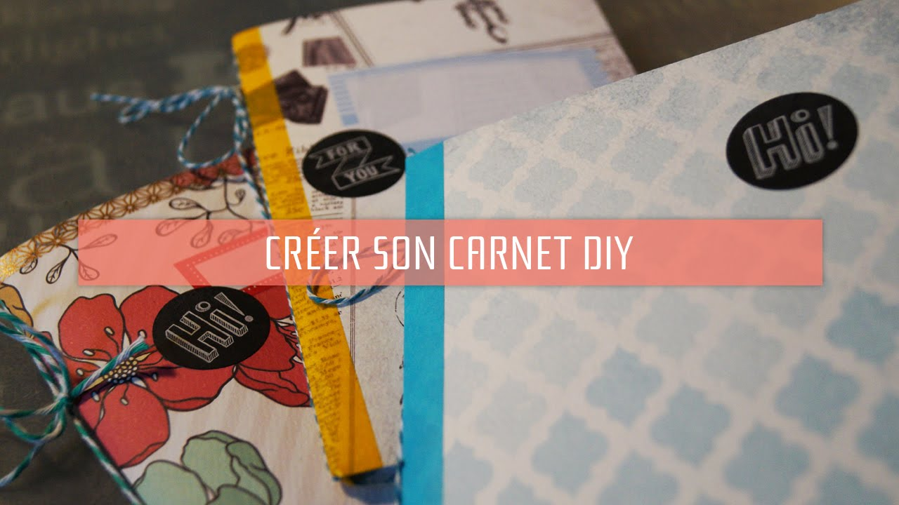 Diy faire un petit carnet soi m me youtube - Comment faire une table de chevet ...