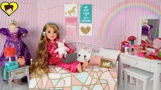 Dormitorio de Unicornio DIY para Mi Muñeca de Rapunzel