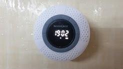 Silvercrest Bluetooth Bathroom Speaker SBL 3 C4 Unboxing Testing