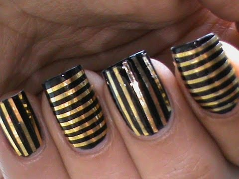 Tutorial Striping Tape Nail Art Designs