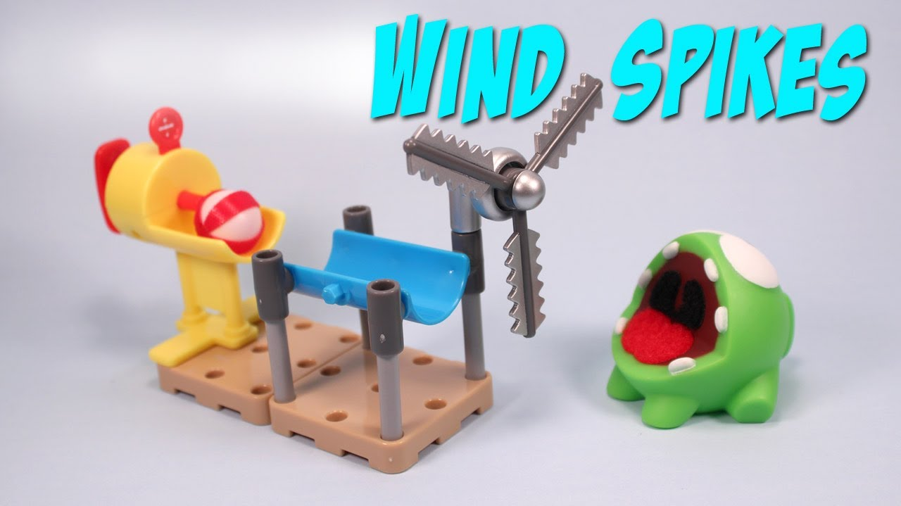 Cut the rope om nom s playground quick set windmill toy review youtube