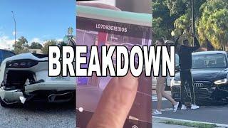 Man Hits Audi and then Woman rear ends Lamborghini FULL VIDEO BREAKDOWN