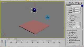 Animação Bola Com  Reactor - ( 3Ds Max )   Videos Tutoriais - Tutors.com.br