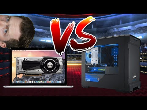 Apple MacBook with eGPU vs Gaming PC?! YES!