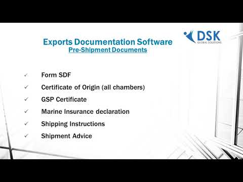Exports Documentation Software