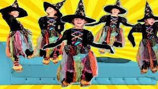 Нalloween for kids  with Five little Babies jumping on the bed. Funny kids stories in baby song.
