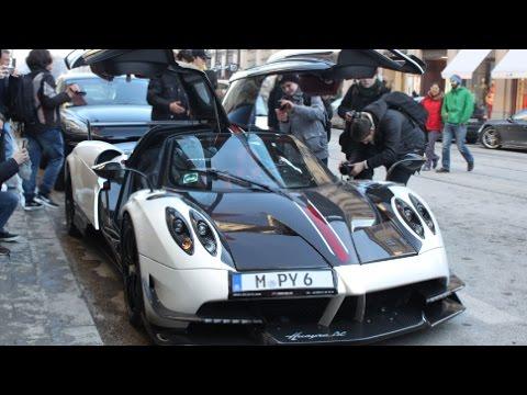Supercars In Munchen Pagani Huayra Bc Mclaren Youtube
