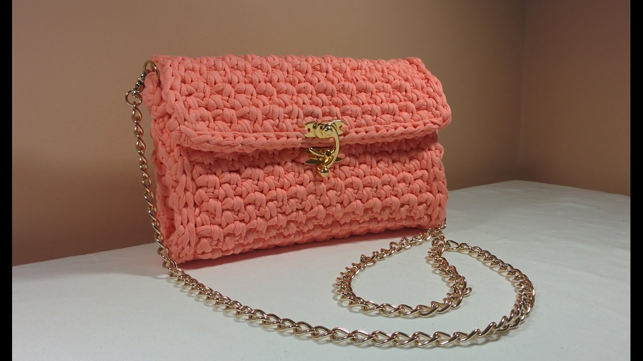 Easy DIY #Crochet Stylish Chain Bag / #Purse / Envelope #