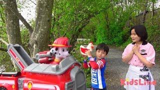 Pow patrol rescue toy パウ・パトロール ねみちゃんを助けるぞ! おゆうぎ こうくんねみちゃん