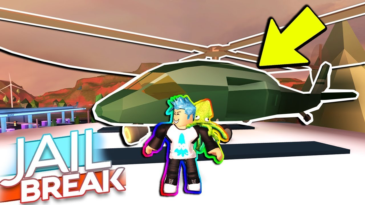First Youtuber To Buy Attack Helicopter New Roblox Jailbreak One Year Update