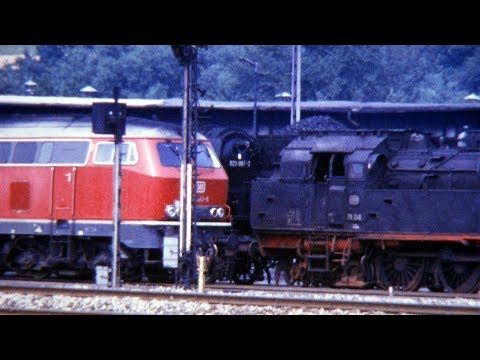 Eisenbahn In Rottweil 1974 - Last Prussian Steam Locomotives Class 38 & 78