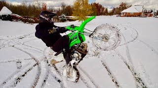 FIRST PIT BIKE SNOW RIDE - NEW BUILD