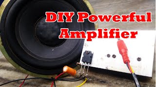 Ultra deep bass amplifier tip41c