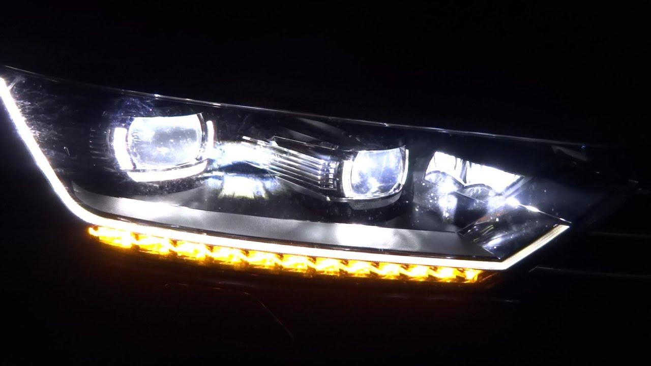2015/2016 VW Passat B8 2.0 TDI Night Drive Led Lights Presentation ...