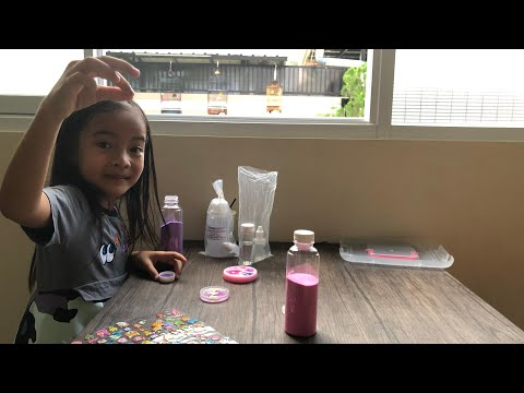 Zara Cute belajar Proses Kimia cairan Resin   Homeschooling DIY Craft