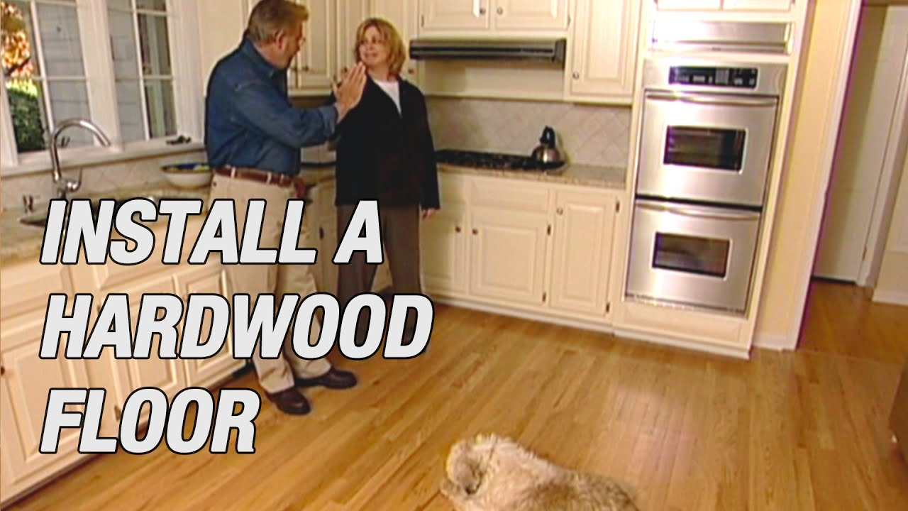 Install A Pre Finished Hardwood Floor Youtube