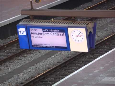 Omroep 30 min vertraagde IC Direct Amsterdam te Rotterdam CS