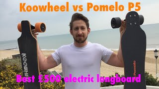 Boosted longboard comparison - Koowheel VS Pomelo P5