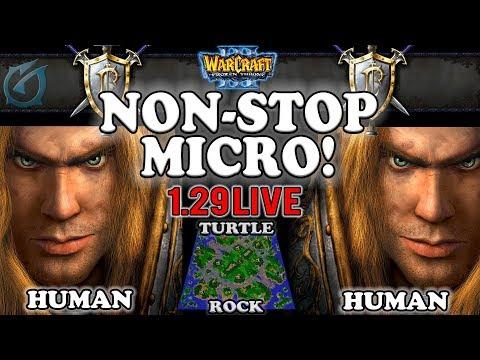 Grubby | Warcraft 3 TFT | 1.29 LIVE | HU v HU on Turtle Rock - Non-stop Micro!