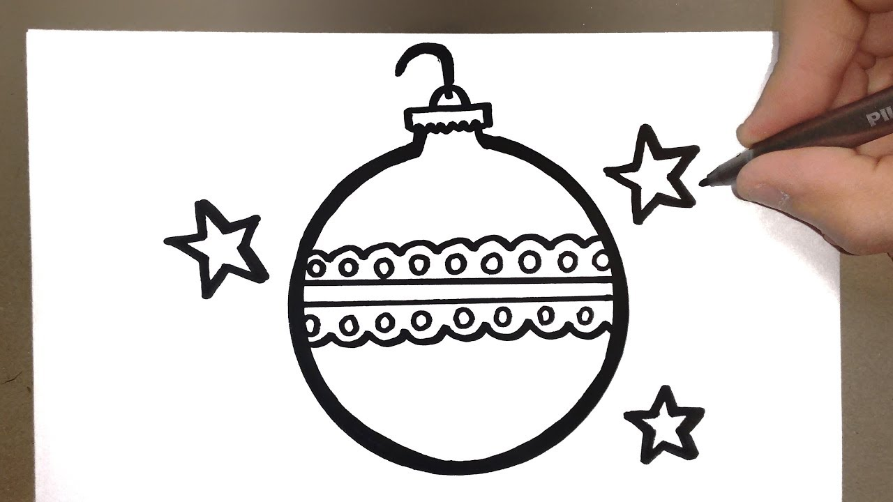 How To Draw Christmas Ornament Como Desenhar Enfeites De Natal