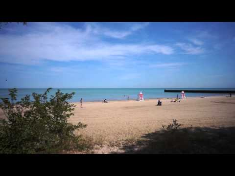 Evanston IL Lake Front at South Blvd Beach