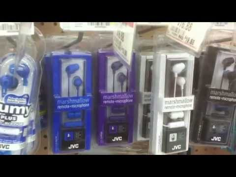 Checking out Headphones at Walmart on 2/11/15