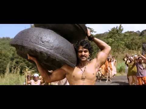 Prabhas Lifting Shivling & Shiv Tandav Strotram as a background song.