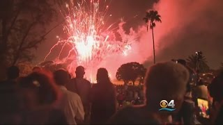 4th Of July Crowd Wowed By Fireworks Above Famed Biltmore Hotel thumbnail