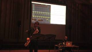 eBop for Baritone Sax and Live Electronics