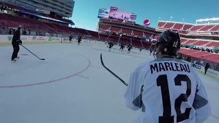 Sharks Goalie Alex Stalock Wears the GoPro at Stadium Series Practice
