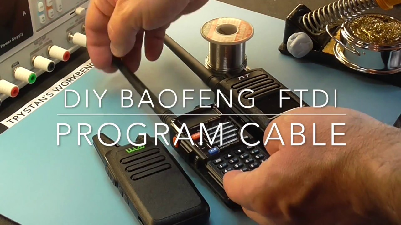 Diy Baofeng Ftdi Programming Cable Youtube Schematic