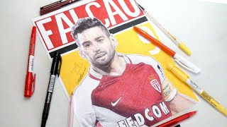 RADAMEL FALCAO PEN DRAWING - AS MONACO