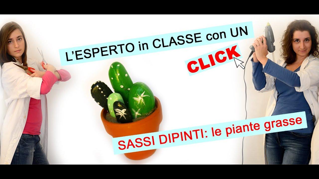 Sassi dipinti: le Piante Grasse - YouTube