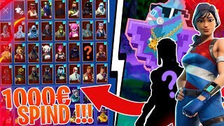 ALL MY FORTNITE SKINS! (1000€) 😱 120,000 VBUCKS SPIND! 🔥 - Fortnite Battle Royale